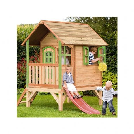Somerleyton Playhouse - Kids Wooden Wendy House with Porch and Slide